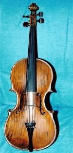 Alamo violin after repair